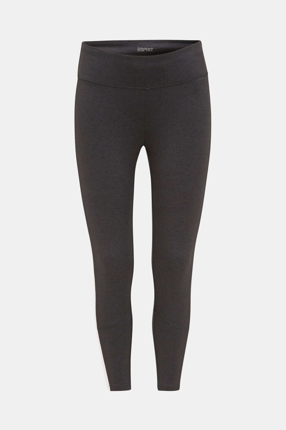 Active leggings with colour block stripes, E-DRY, ANTHRACITE 2, detail image number 6