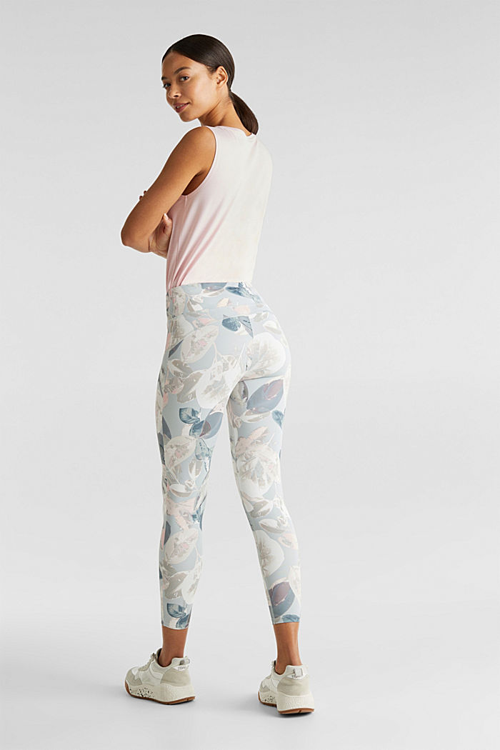 Cropped active leggings with print, E-DRY, LIGHT PINK, detail image number 2