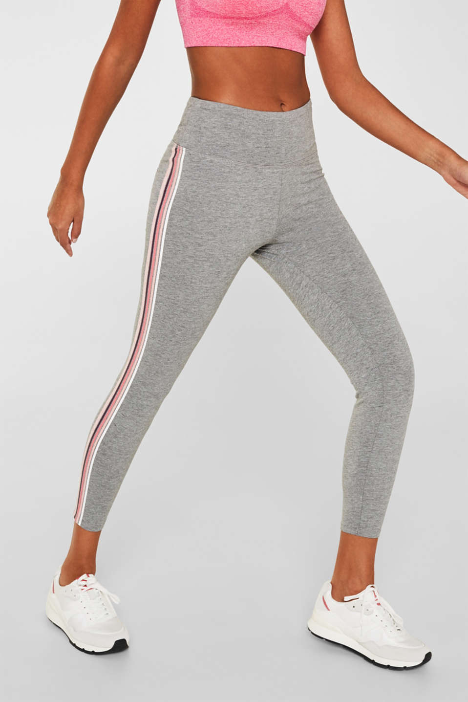 Esprit - Leggings med stretch och ränder