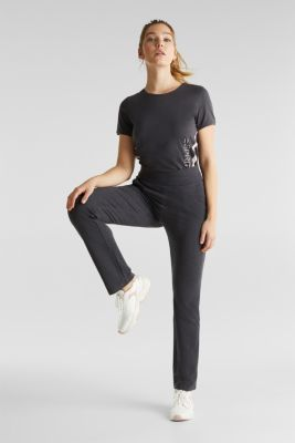 Stretch jersey trousers with organic cotton, ANTHRACITE 2, detail