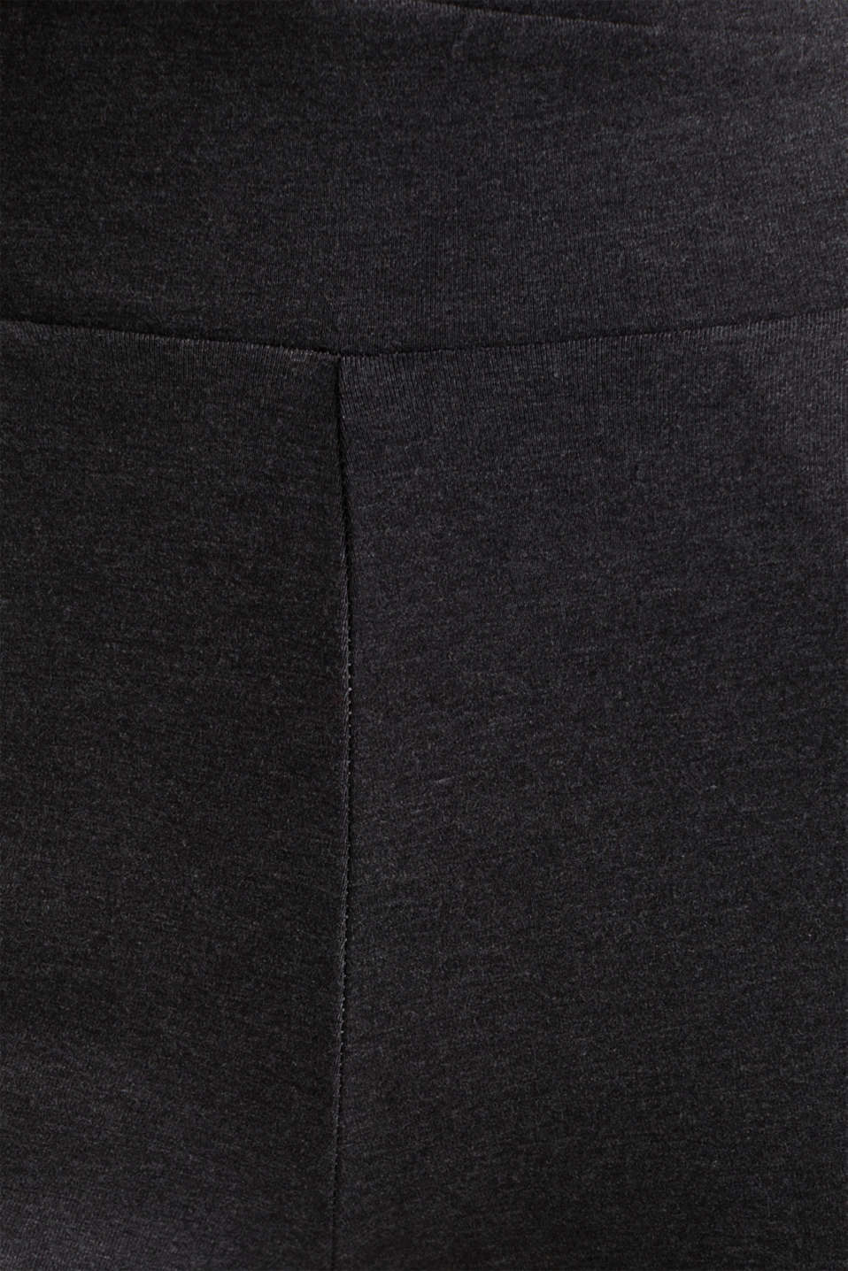 Stretch jersey trousers with organic cotton, ANTHRACITE 2, detail image number 4