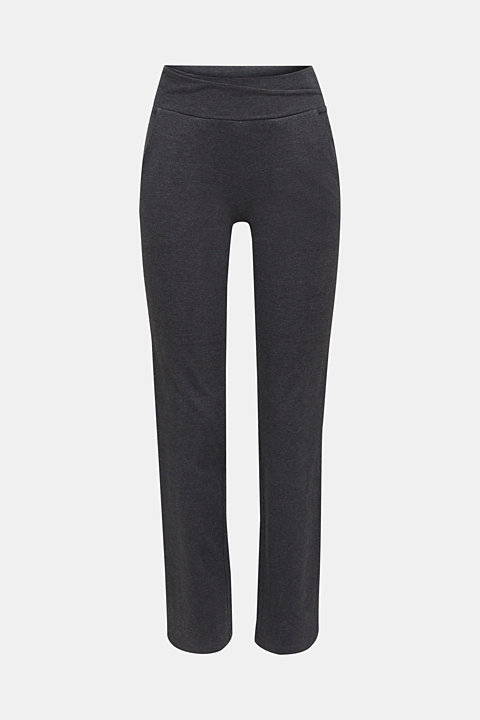 Stretch jersey trousers with organic cotton