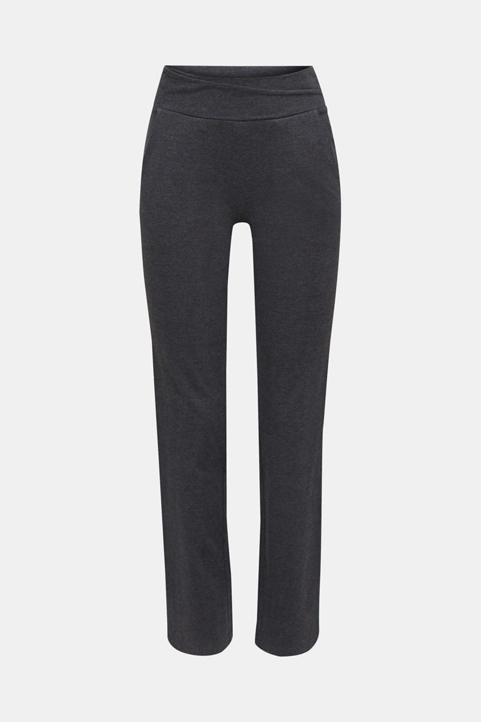 Stretch jersey trousers with organic cotton, ANTHRACITE 2, detail image number 6