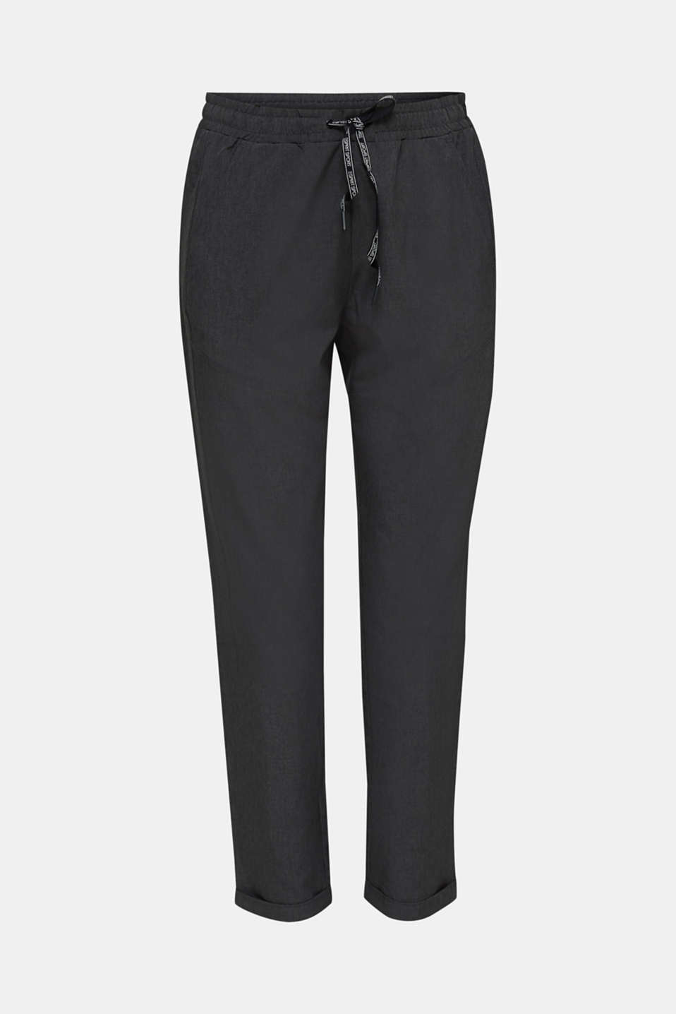 Melange woven trousers with stretch, E-DRY, ANTHRACITE 2, detail image number 7