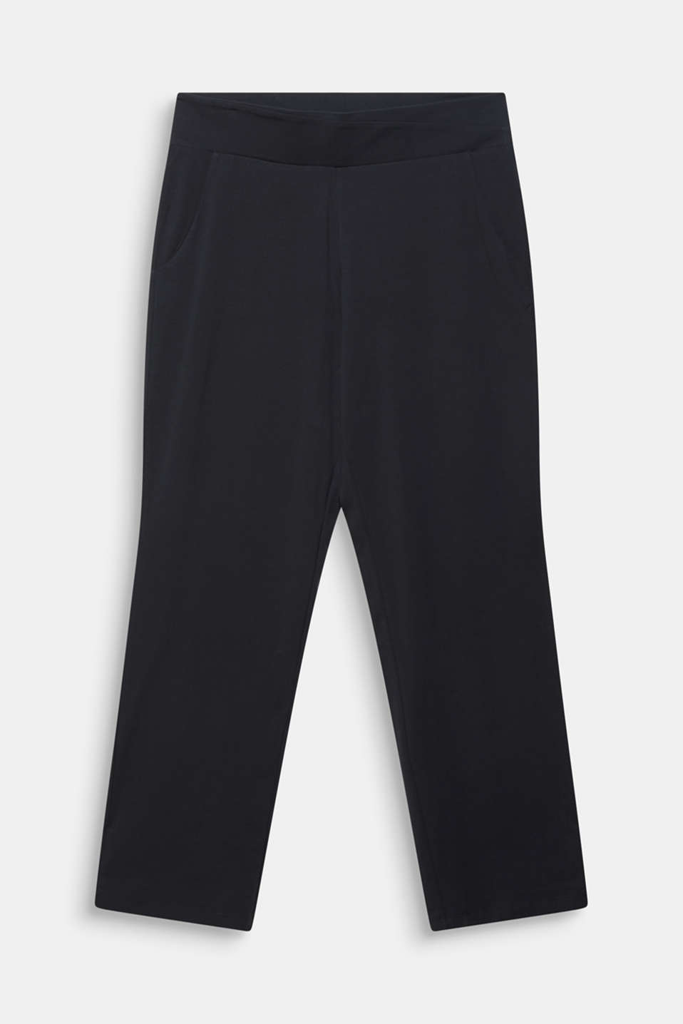 NEW YEAR. NEW ME. Straight leg stretch trousers, BLACK, detail image number 6