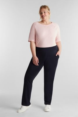 NEW YEAR. NEW ME. Stretch trousers, NAVY 2, detail