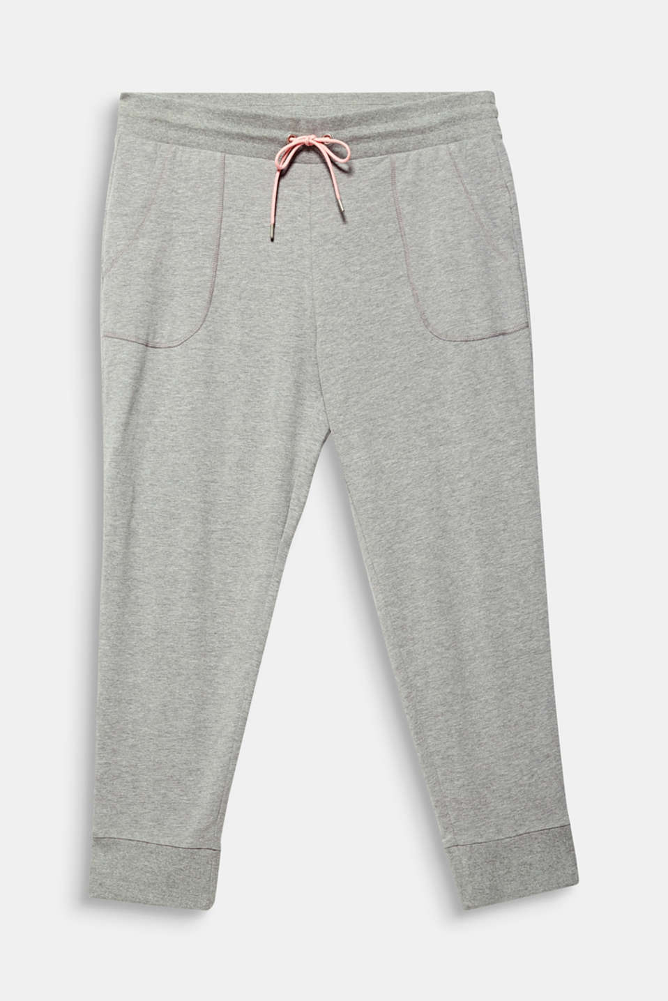 NEW YEAR. NEW ME. Tracksuit bottoms with a contrasting cord tie, MEDIUM GREY 2, detail image number 6