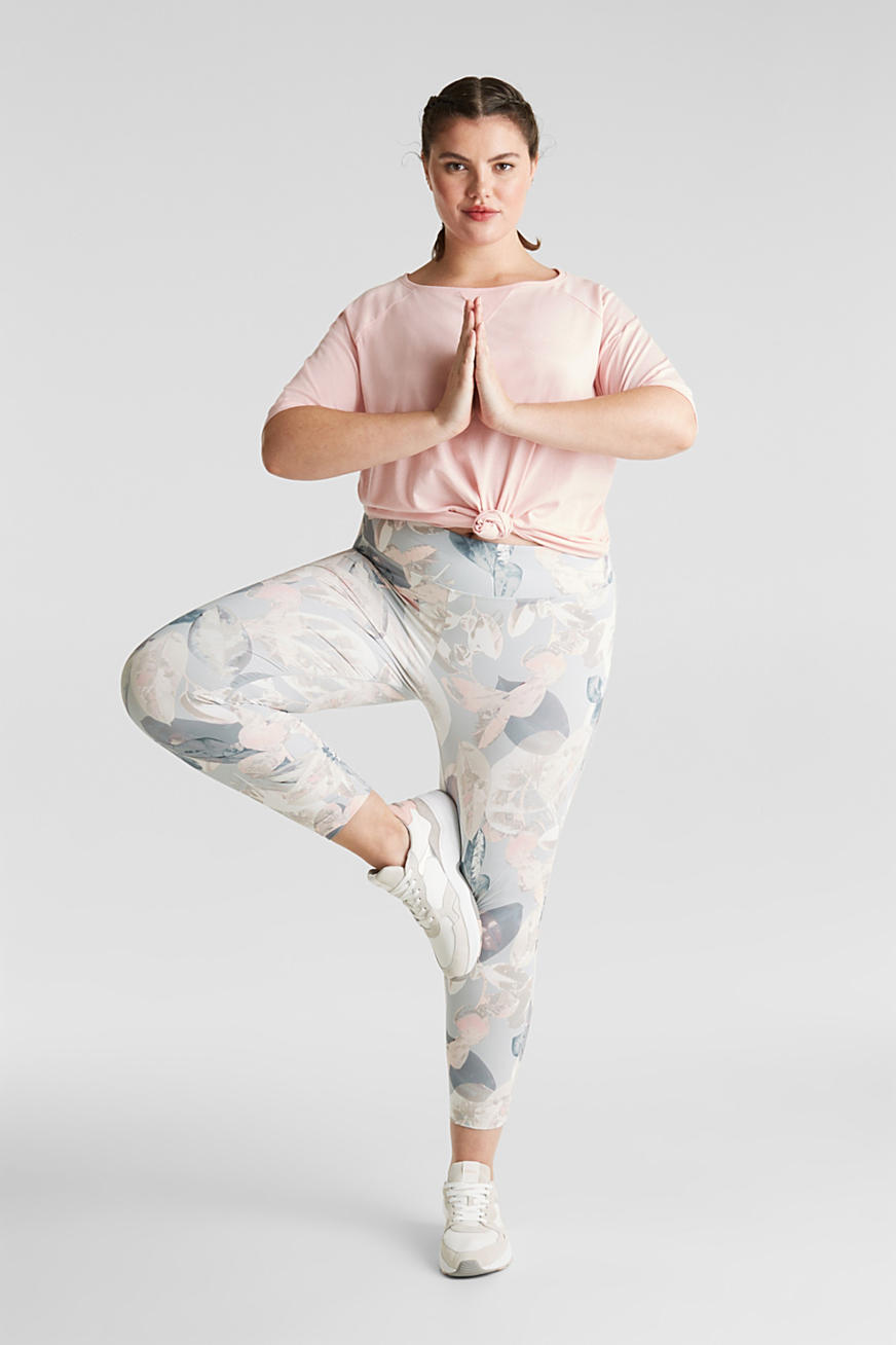 NEW YEAR. NEW ME. Active-Leggings mit Print, E-DRY