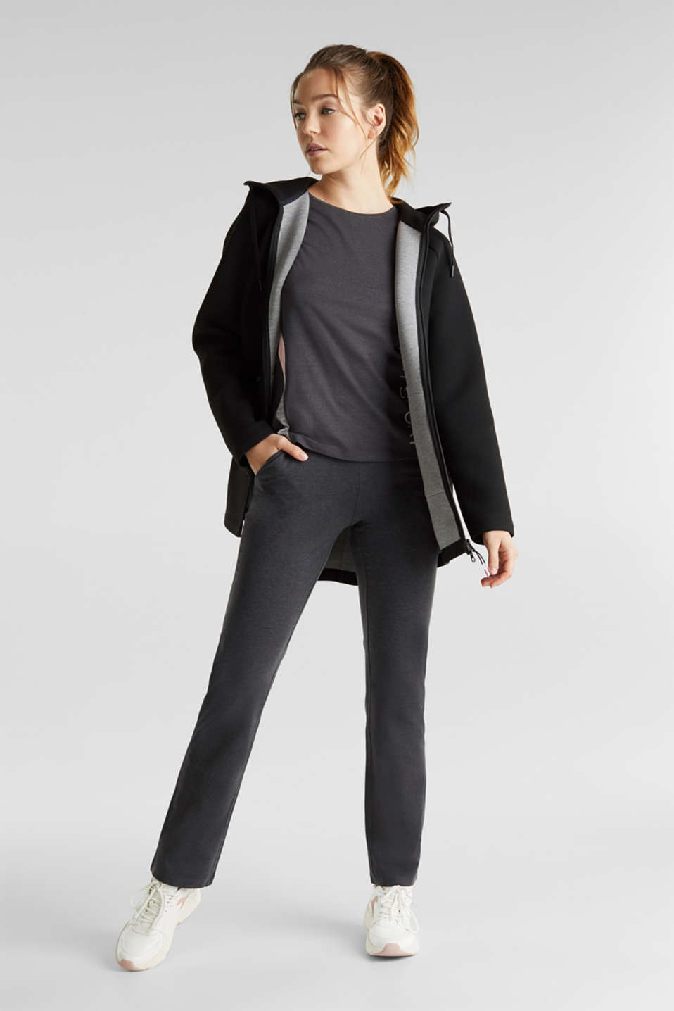 Cardigan made of double-faced jersey, BLACK, detail image number 1