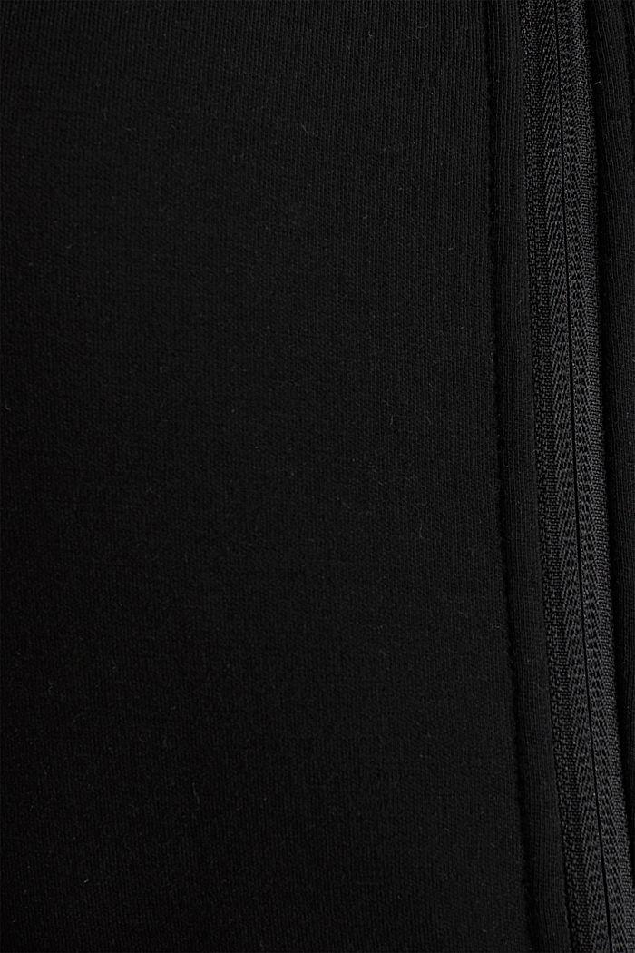 Cardigan aus Doubleface-Jersey, BLACK, detail image number 4