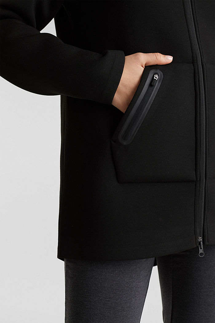 Cardigan aus Doubleface-Jersey, BLACK, detail image number 5