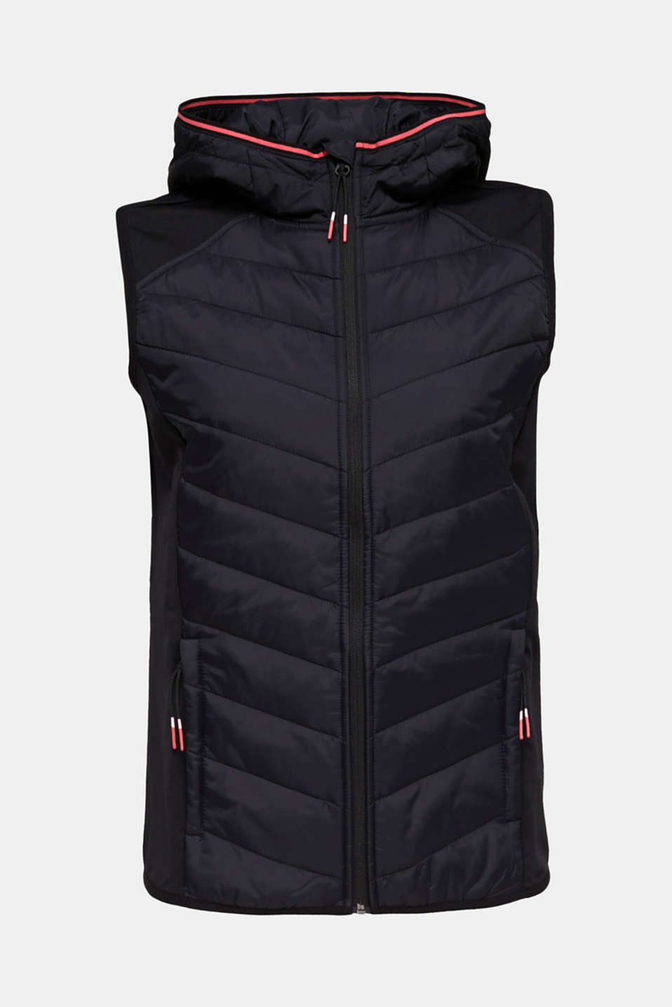 Body warmer in a mix of materials with 3M™ Thinsulate™ filling, BLACK, detail image number 6
