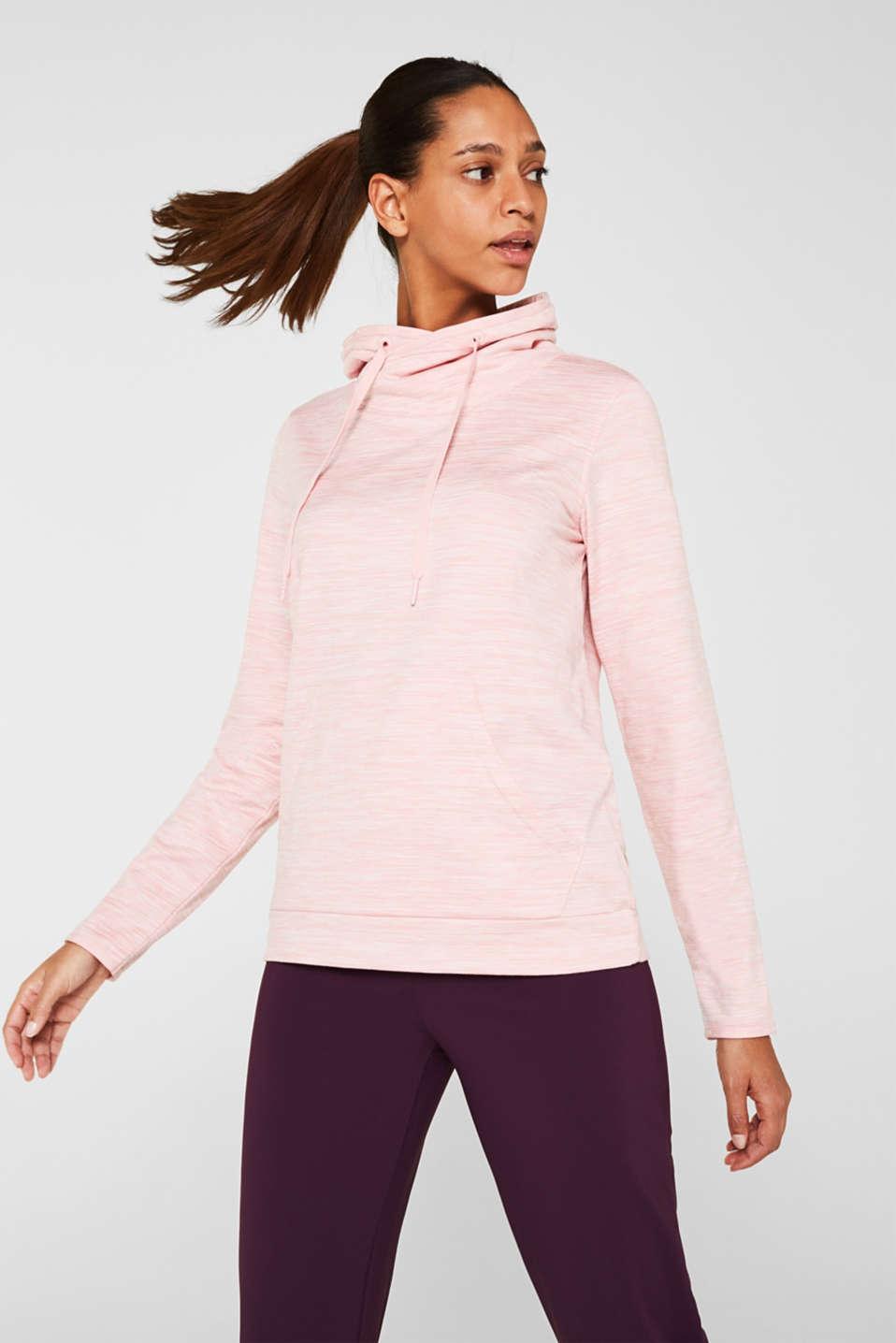 Fleece-lined sweatshirt, E-DRY, OLD PINK 2, detail image number 0