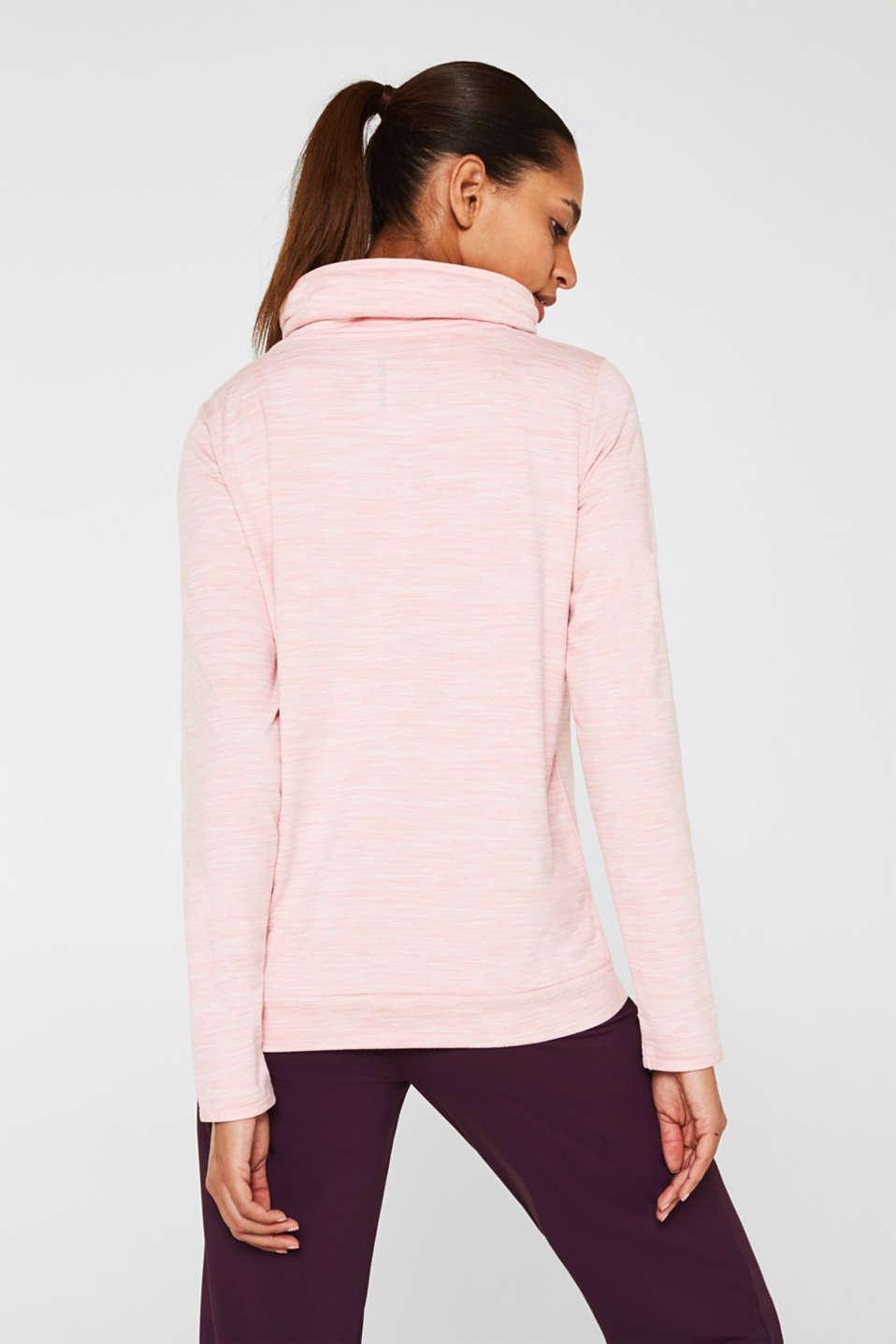 Fleece-lined sweatshirt, E-DRY, OLD PINK 2, detail image number 3