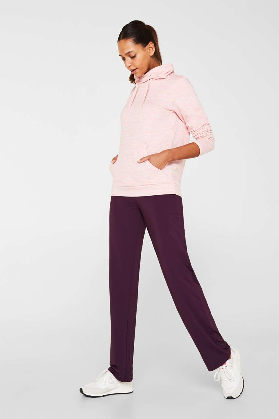 Fleece-lined sweatshirt, E-DRY, OLD PINK 2, detail image number 1