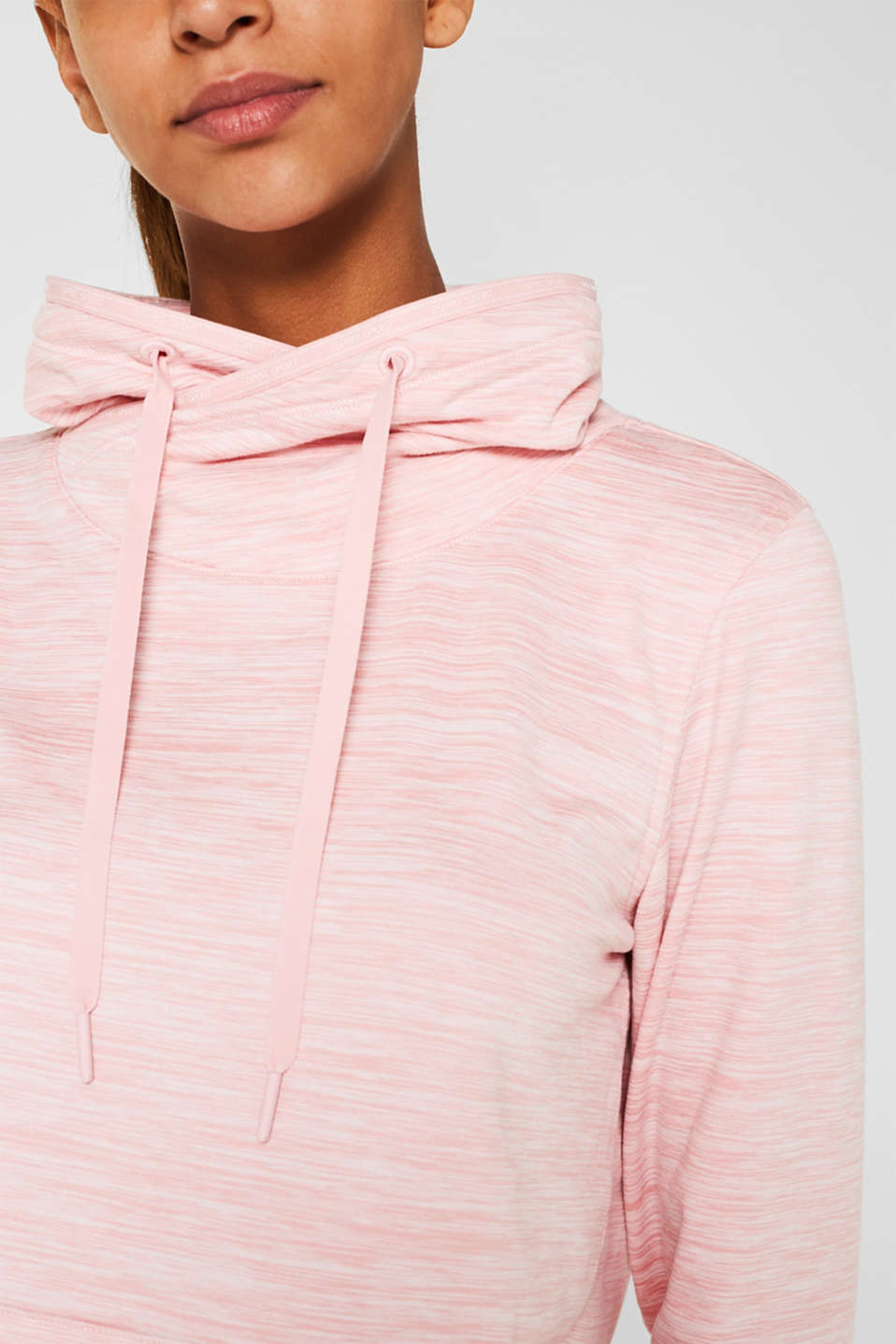 Fleece-lined sweatshirt, E-DRY, OLD PINK 2, detail image number 2