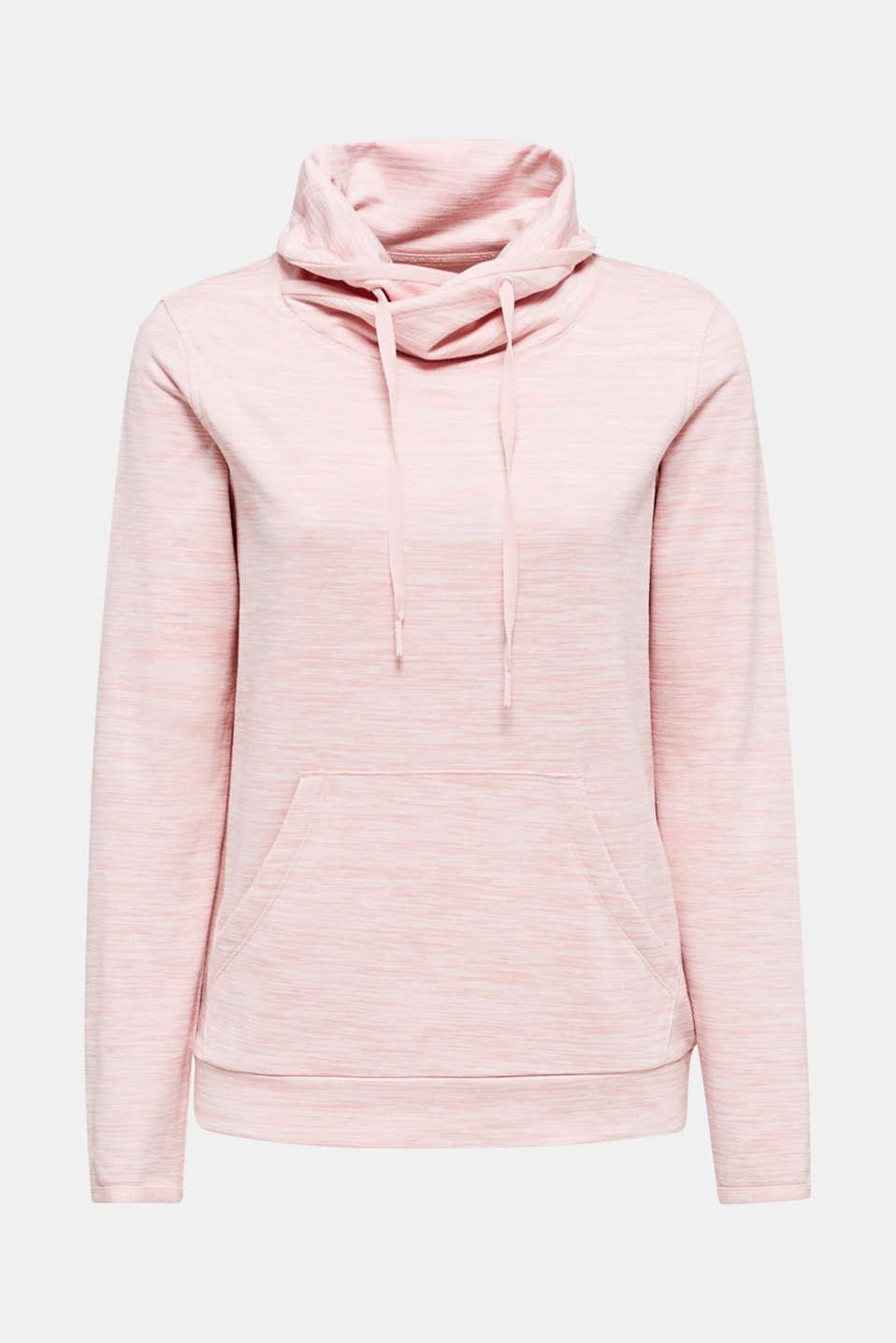 Fleece-lined sweatshirt, E-DRY, OLD PINK 2, detail image number 7