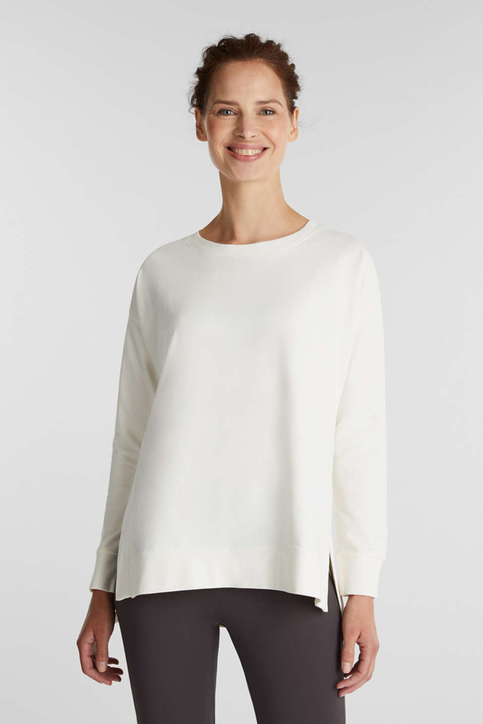 Esprit - Stretch cotton sweatshirt