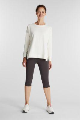 Stretch cotton sweatshirt, OFF WHITE, detail