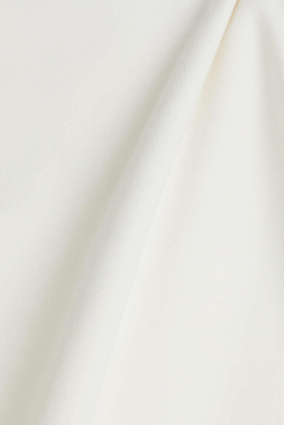 Stretch cotton sweatshirt, OFF WHITE, detail image number 4