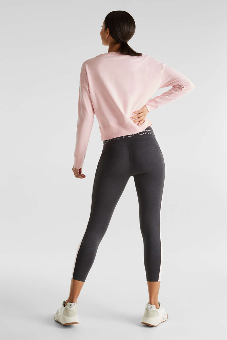 Short print sweatshirt with stretch, LIGHT PINK, detail image number 3