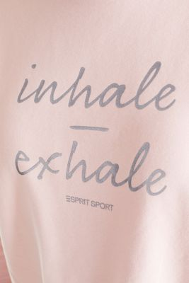 Short print sweatshirt with stretch, LIGHT PINK, detail