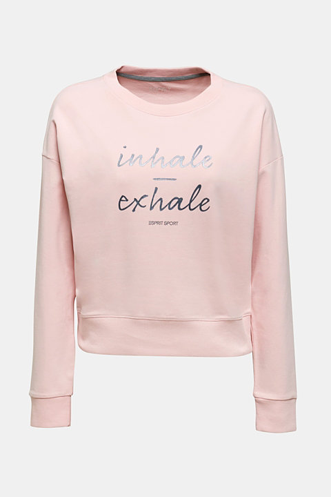 Short print sweatshirt with stretch