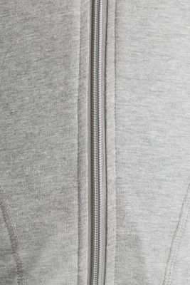 NEW YEAR. NEW ME. Hooded sweatshirt cardigan, MEDIUM GREY 2, detail