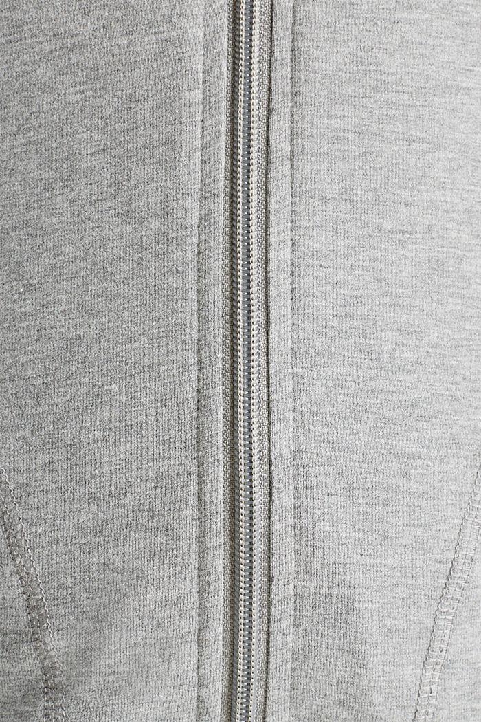 AÑO NUEVO. VIDA NUEVA. Sudadera de felpa con capucha, MEDIUM GREY, detail image number 4