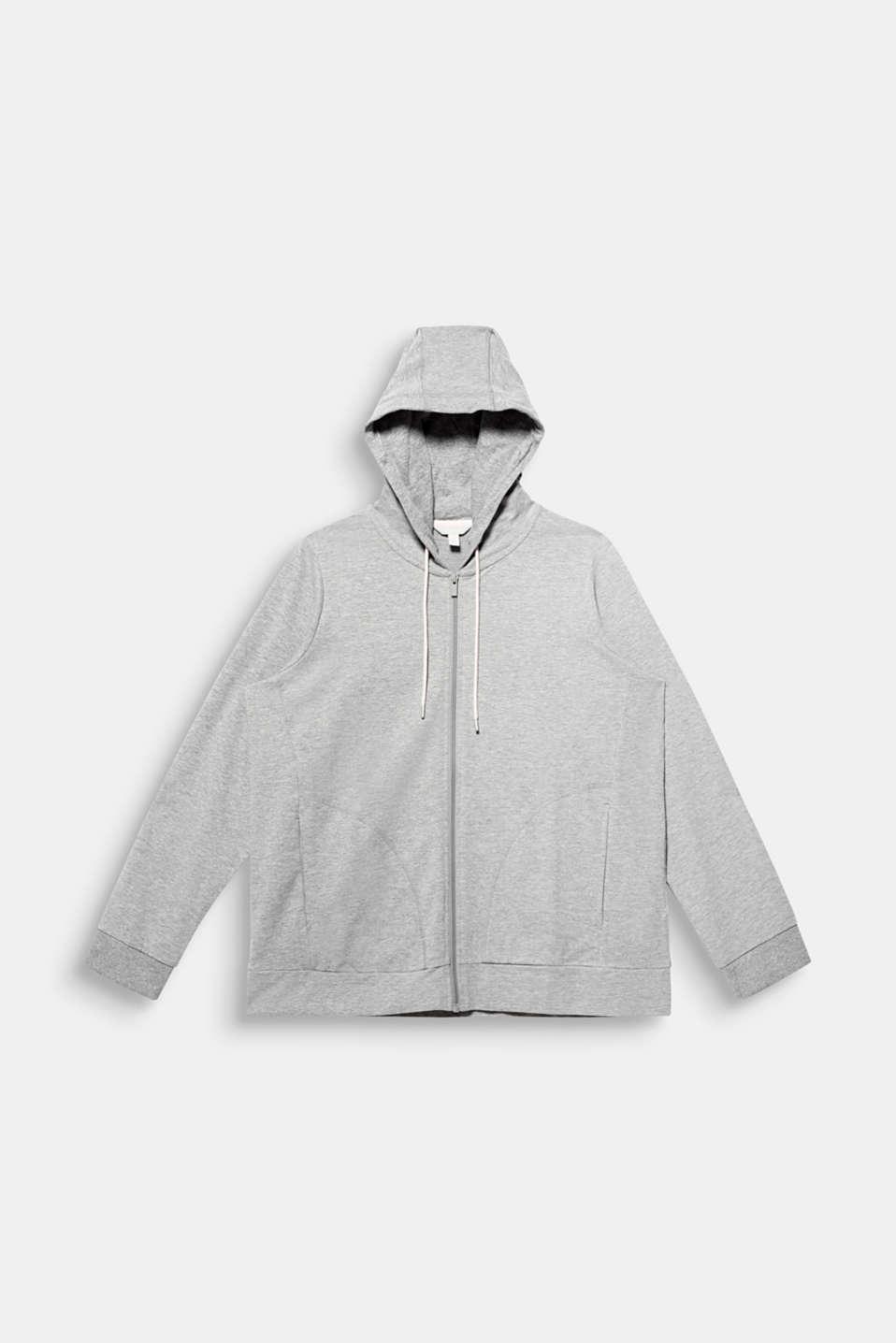 NEW YEAR. NEW ME. Hooded sweatshirt cardigan, MEDIUM GREY 2, detail image number 8