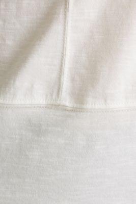 Cropped, boxy slub T-shirt, 100% cotton