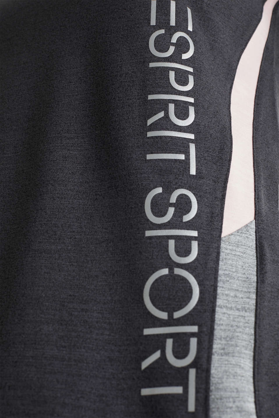 Stretch top with colour block stripes, E-DRY, ANTHRACITE 2, detail image number 4