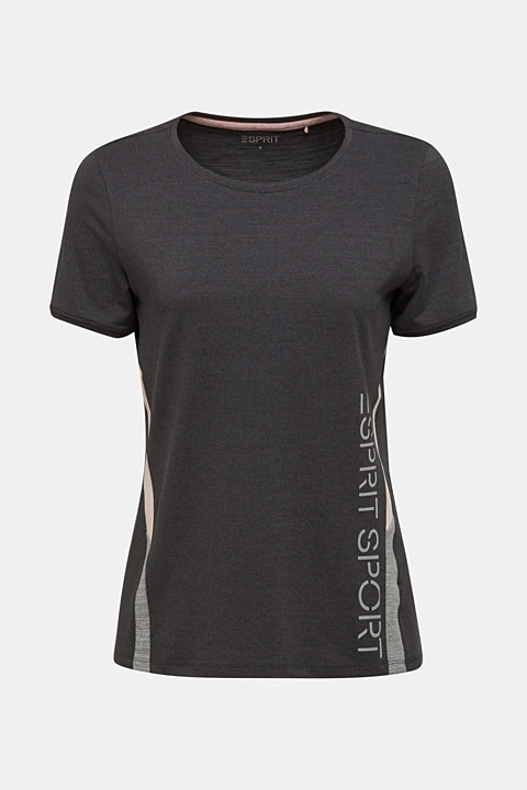 Stretch top with colour block stripes, E-DRY