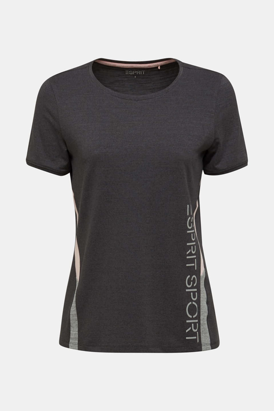Stretch top with colour block stripes, E-DRY, ANTHRACITE 2, detail image number 6