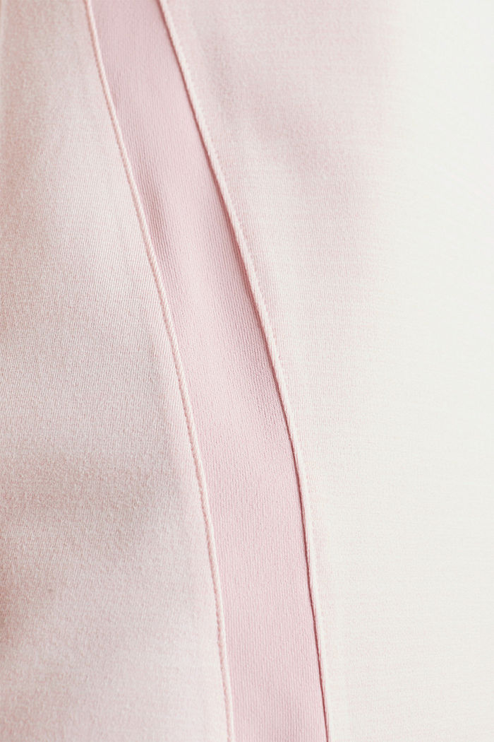 Stretch-Shirt mit Color-Block-Streifen, E-DRY, LIGHT PINK, detail image number 4
