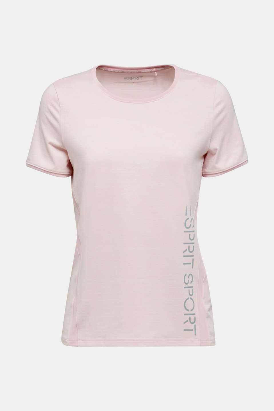 Stretch top with colour block stripes, E-DRY, LIGHT PINK 2, detail image number 6