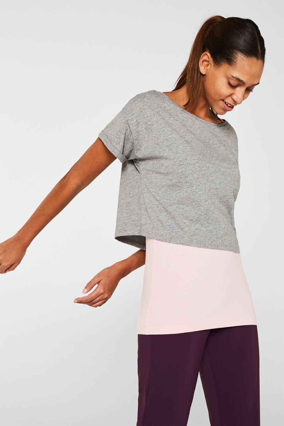 Esprit - T-shirt 2-en-1 stretch