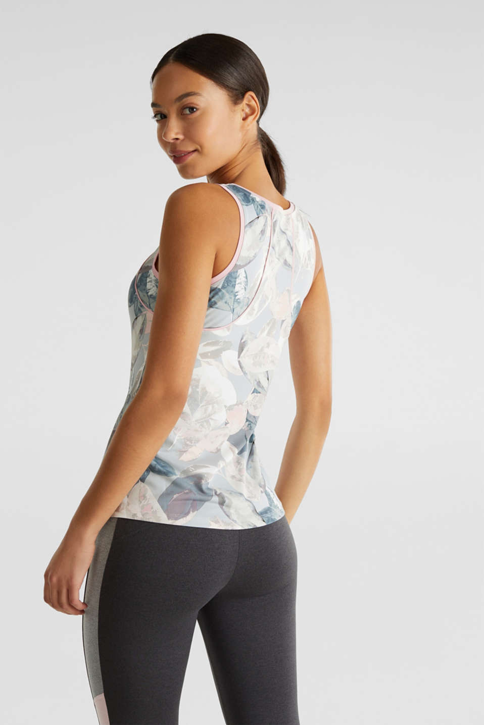 Stretch top with a print, E-DRY, LIGHT PINK 3, detail image number 3