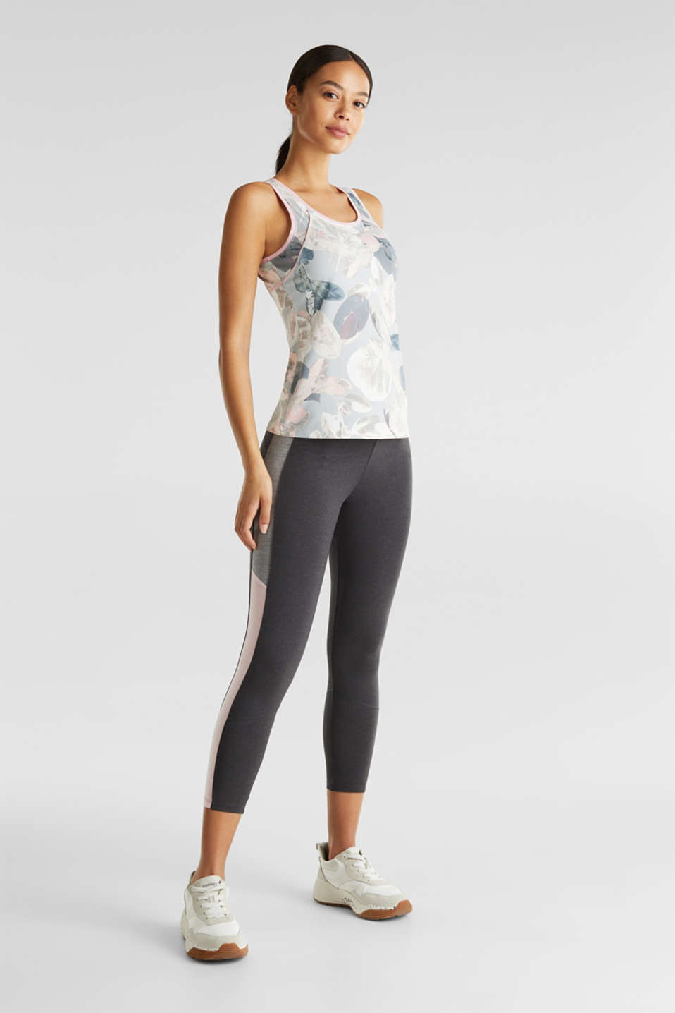 Stretch top with a print, E-DRY, LIGHT PINK 3, detail image number 1