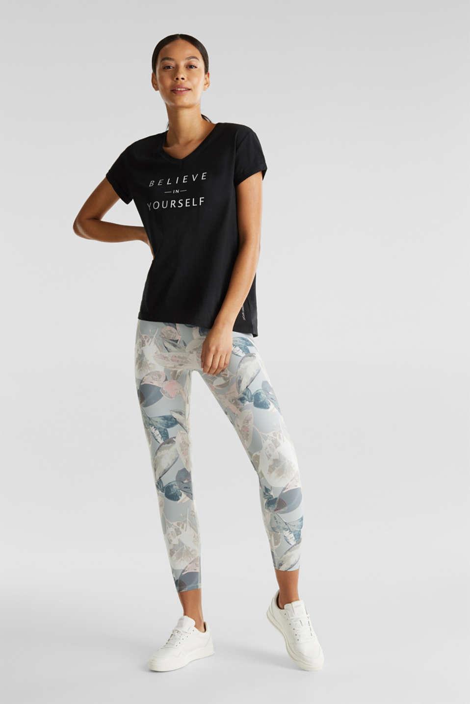 Statement T-shirt made of 100% organic cotton, BLACK, detail image number 1