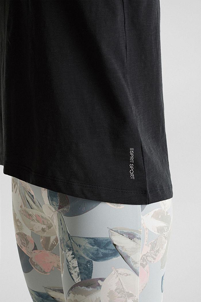 T-shirt met statement van 100% biologisch katoen, BLACK, detail image number 4