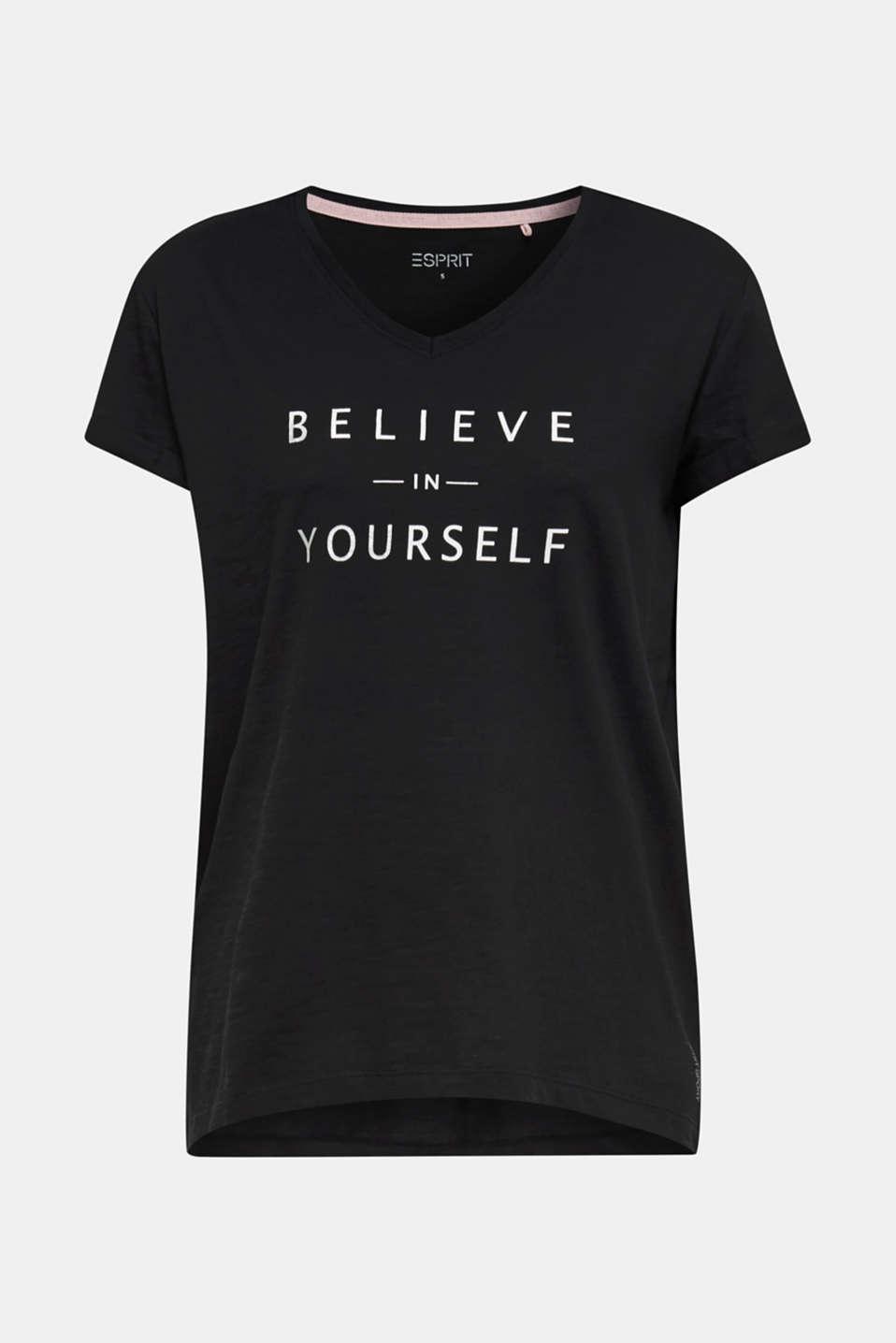 Statement T-shirt made of 100% organic cotton, BLACK, detail image number 5