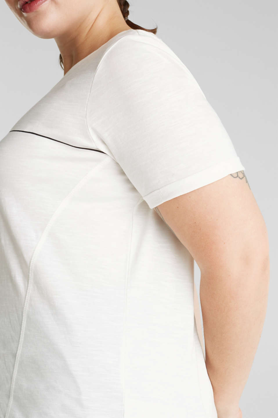 NEW YEAR. NEW ME. T-shirt with a print, 100% cotton, OFF WHITE, detail image number 4
