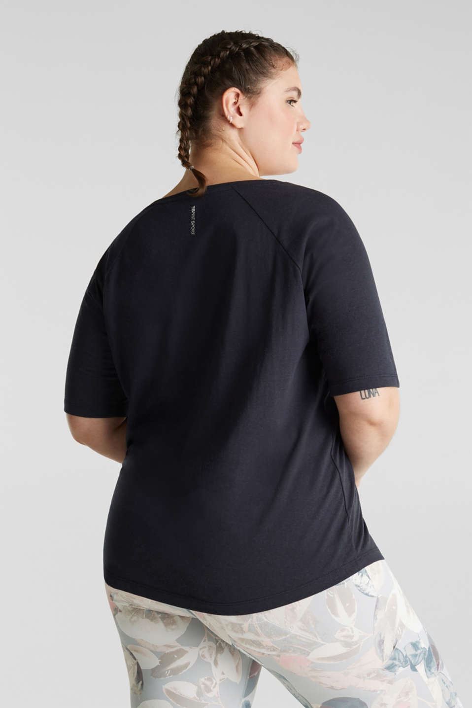 NEW YEAR. NEW ME. Raglan top, NAVY 2, detail image number 2