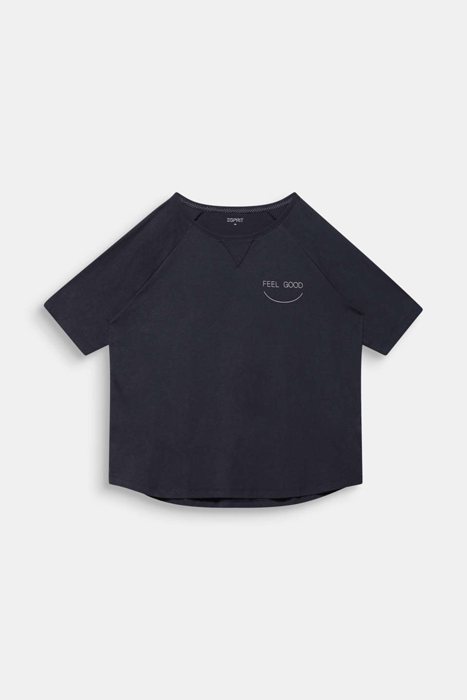NEW YEAR. NEW ME. Raglan top, NAVY 2, detail image number 7
