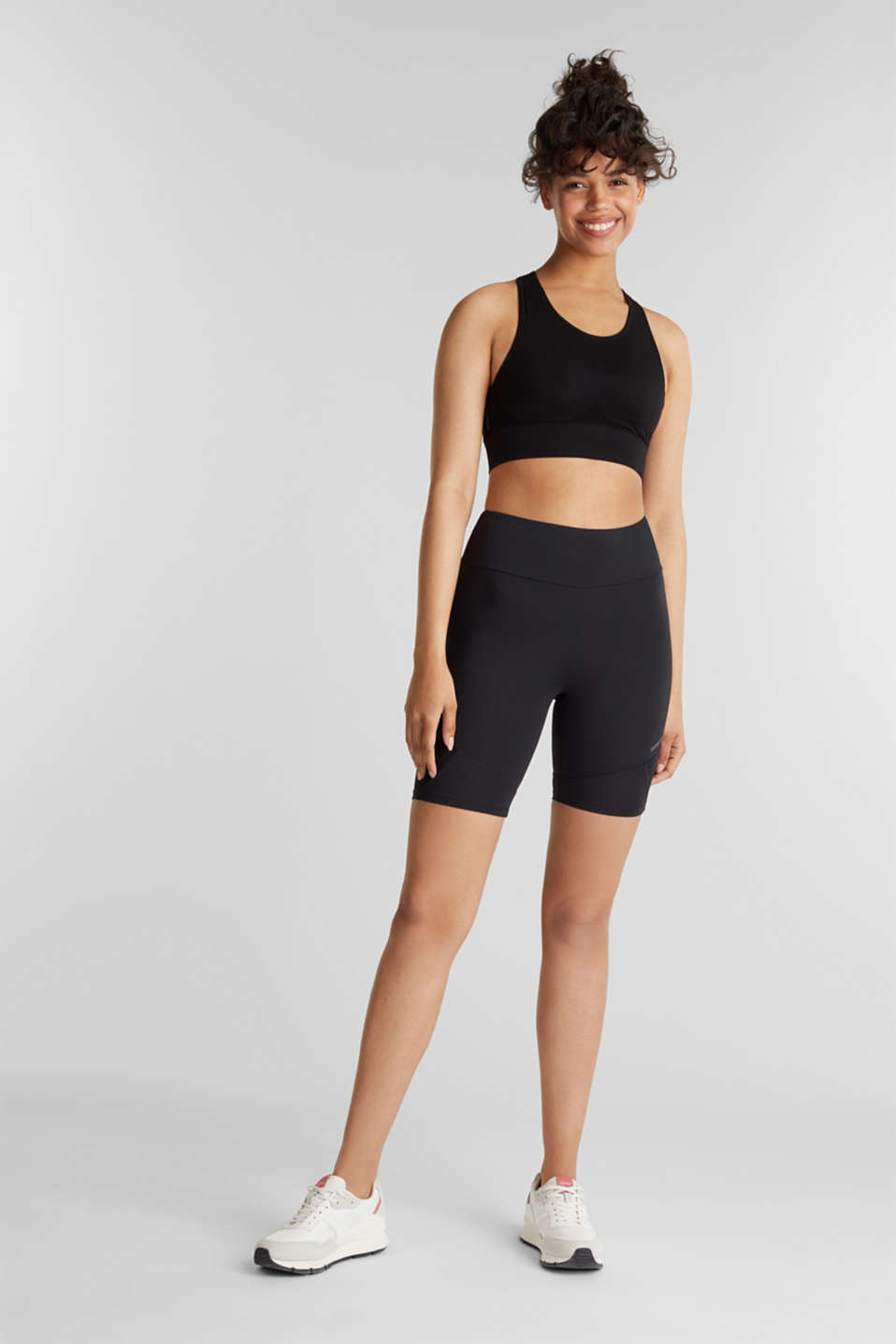 Seamless sports bra, E-DRY, BLACK, detail