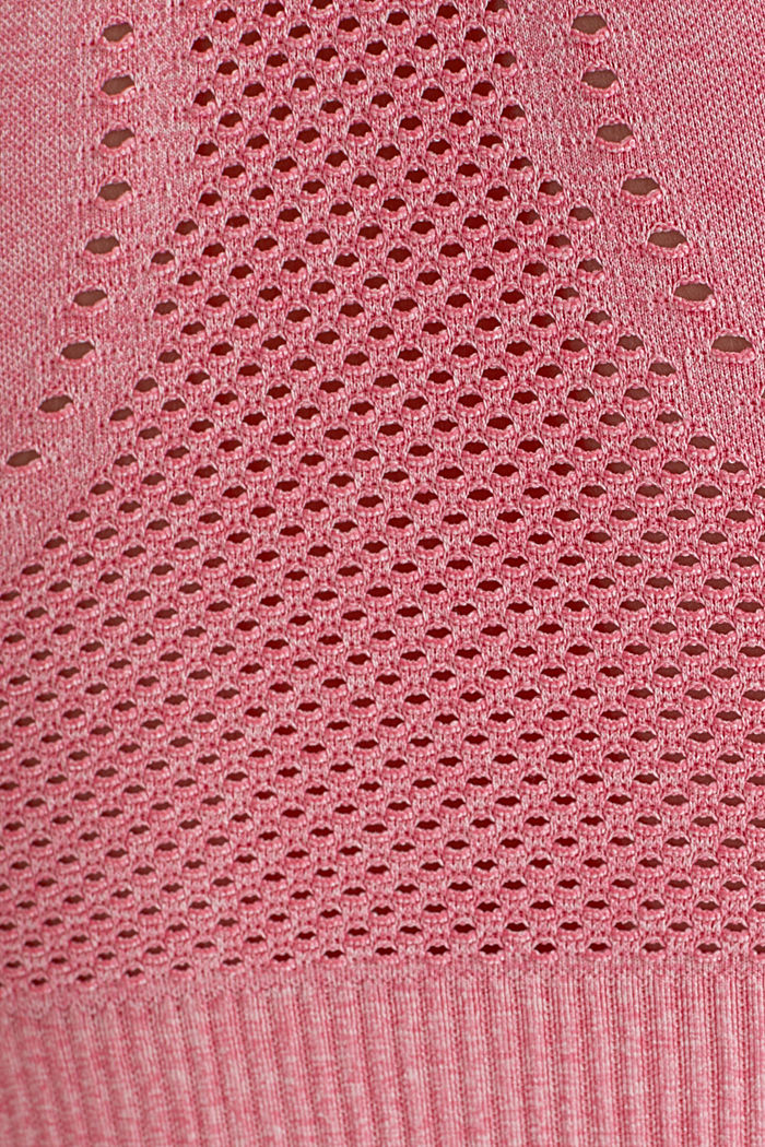 Seamless sports bra, E-DRY, CORAL, detail image number 4