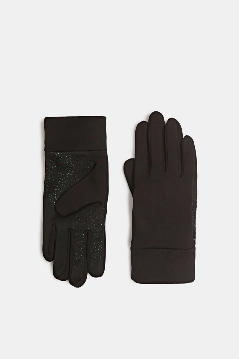 Running gloves with a touchscreen function, BLACK, detail image number 0
