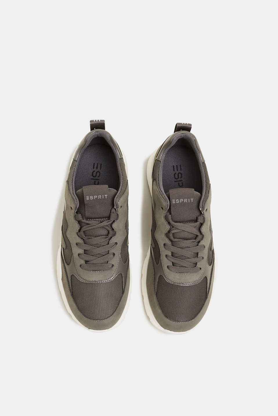 Trainers in a material mix, GUNMETAL, detail image number 1