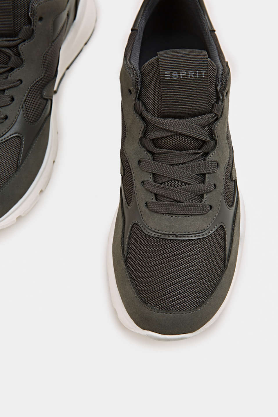 Trainers in a material mix, GUNMETAL, detail image number 5